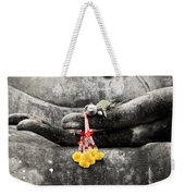The Hand Of Buddha Weekender Tote Bag by Adrian Evans