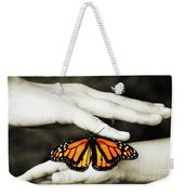 The Hands And The Butterfly Weekender Tote Bag