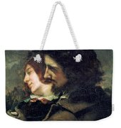 The Happy Lovers Weekender Tote Bag by Gustave Courbet