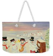 The Happy Snowman Band Weekender Tote Bag