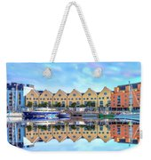 The Harbor At Galway Weekender Tote Bag