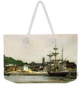 The Harbour At Honfleur Weekender Tote Bag