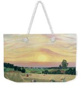 The Harvest Weekender Tote Bag by Boris Mikhailovich Kustodiev