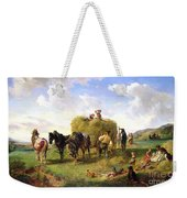 The Hay Harvest Weekender Tote Bag