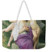 The Hearts Awakening Weekender Tote Bag by William Adolphe Bouguereau