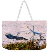 The Heron And The Egret Weekender Tote Bag