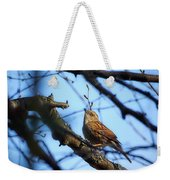 The Hiding Singer. Dunnock Weekender Tote Bag