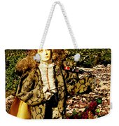 The Hills Are Alive In Santorini Weekender Tote Bag