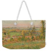 The Hills Of Thierceville Seen From The Country Lane Weekender Tote Bag