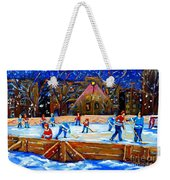 The Hockey Rink Weekender Tote Bag
