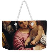 The Holy Family , Annibale Carracci Weekender Tote Bag