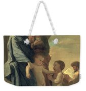 The Holy Family Weekender Tote Bag by Nicolas Poussin