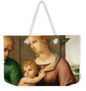 The Holy Family Weekender Tote Bag by Raphael