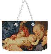 The Holy Family With A Basket  Weekender Tote Bag