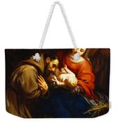 The Holy Family With Saint Francis Weekender Tote Bag by Jacob van Oost