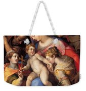 The Holy Family With St Catherine Of Alexandria, St Margaret Of Antioch And St Francis Of Assisi  Weekender Tote Bag