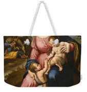The Holy Family With The Infant Saint John The Baptist Weekender Tote Bag