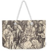 The Holy Family With Two Music-making Angels Weekender Tote Bag