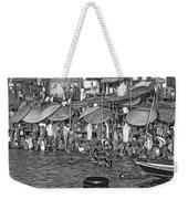 The Holy Ganges - Paint Bw Weekender Tote Bag