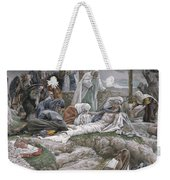 The Holy Virgin Receives The Body Of Jesus Weekender Tote Bag