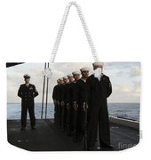 The Honor Guard Stands At Parade Rest Weekender Tote Bag by Stocktrek Images