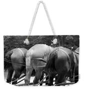 The Horses Of Mackinac Island Michigan 03 Bw Weekender Tote Bag