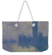 The Houses Of Parliament Stormy Sky Weekender Tote Bag