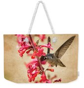 The Hummingbird And The Spring Flowers  Weekender Tote Bag
