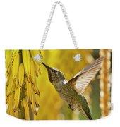 The Hummingbird And The Yellow Aloe  Weekender Tote Bag