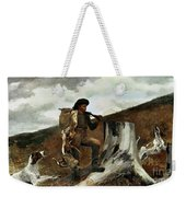 The Hunter And His Dogs Weekender Tote Bag by Winslow Homer