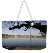 The Iced-over Tidal Basin In Mid-winter Weekender Tote Bag