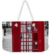 The Iconic London Phonebox Weekender Tote Bag