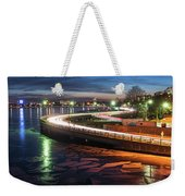 The Icy Charles River At Night Boston Ma Cambridge Weekender Tote Bag