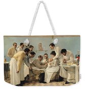 The Insertion Of A Tube Weekender Tote Bag by Georges Chicotot