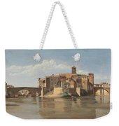 The Island And Bridge Of San Bartolomeo - Rome Weekender Tote Bag