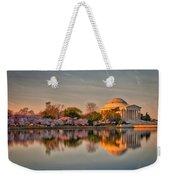 The Jefferson Memorial And Cherry Trees In Bloom Weekender Tote Bag