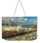 The Jetty Storm Weekender Tote Bag