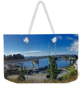 The John O'connell Bridge Is A Cable-stayed Bridge Over The Sitk Weekender Tote Bag