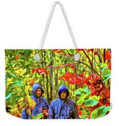 The Joys Of Autumn Camping - Paint Weekender Tote Bag