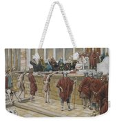 The Judgement On The Gabbatha Weekender Tote Bag