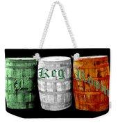 The Keg Room Irish Flag Colors Old English Hunter Green Weekender Tote Bag