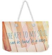 The Key To My Soul Weekender Tote Bag