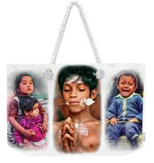 The Kids Of India Triptych Weekender Tote Bag