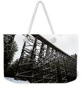The Kinsol Trestle Panorama View On Snowy Day 1. Weekender Tote Bag