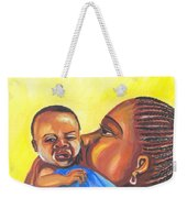 The Kiss Of A Mother In Senegal Weekender Tote Bag