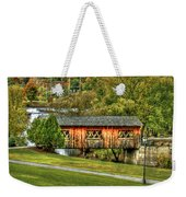 The Kissing Bridge Weekender Tote Bag