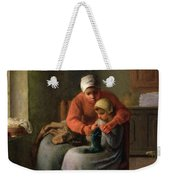 The Knitting Lesson Weekender Tote Bag