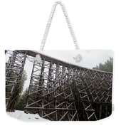 The  Koksilah River Trestle With Snow 1. Weekender Tote Bag