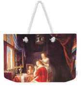 The Lady At Her Dressing Table 1667 Weekender Tote Bag