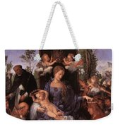 The Lady Of The Festival Du Rosaire Fragment Weekender Tote Bag